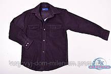 Рубашка вельветовая для мальчика (цв.фиолетовый) от4 до 14 лет (Klassik) Bagen LD13-7-3 Размер:27