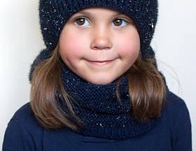 Зимний шарф хомут Фея Фуксия