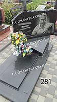 Надмогилля памятник та хрест із чорного граніту на могилу