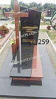 Комплекс памятник и крест из гранита на кладбище