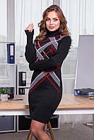 Вязане плаття з кольоровою клітинкою.Р-ри 42-48