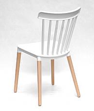 Стул на деревянных ножках с пластиковым сиденьем для баров, кафе, ресторанов, стильных квартир - новинка!, фото 3