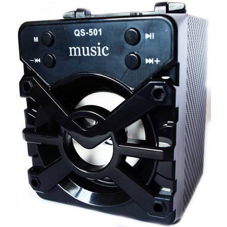 Портативная акустика со встроенным аккумулятом с Bluetooth QS-501 USB CardReader Радио SD-карты, фото 2