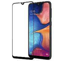 Защитное стекло 9D 9H Полной оклейки для Samsung Galaxy A20s 2019 Захисне скло