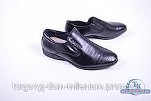 Туфли для мальчика (цв.черный) из кожезаменителя DO-17109 Размер:34,35