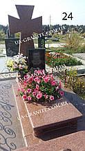 Пам'ятник з хрестом та портрет із граніту на могилу