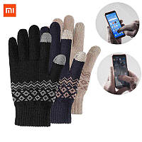 Перчатки FO touch screen warm velvet gloves blue