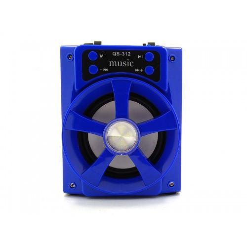 Колонка с Bluetooth QS-312 аккустическая система USB/TF