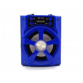 Колонка с Bluetooth QS-312 аккустическая система USB/TF, фото 2