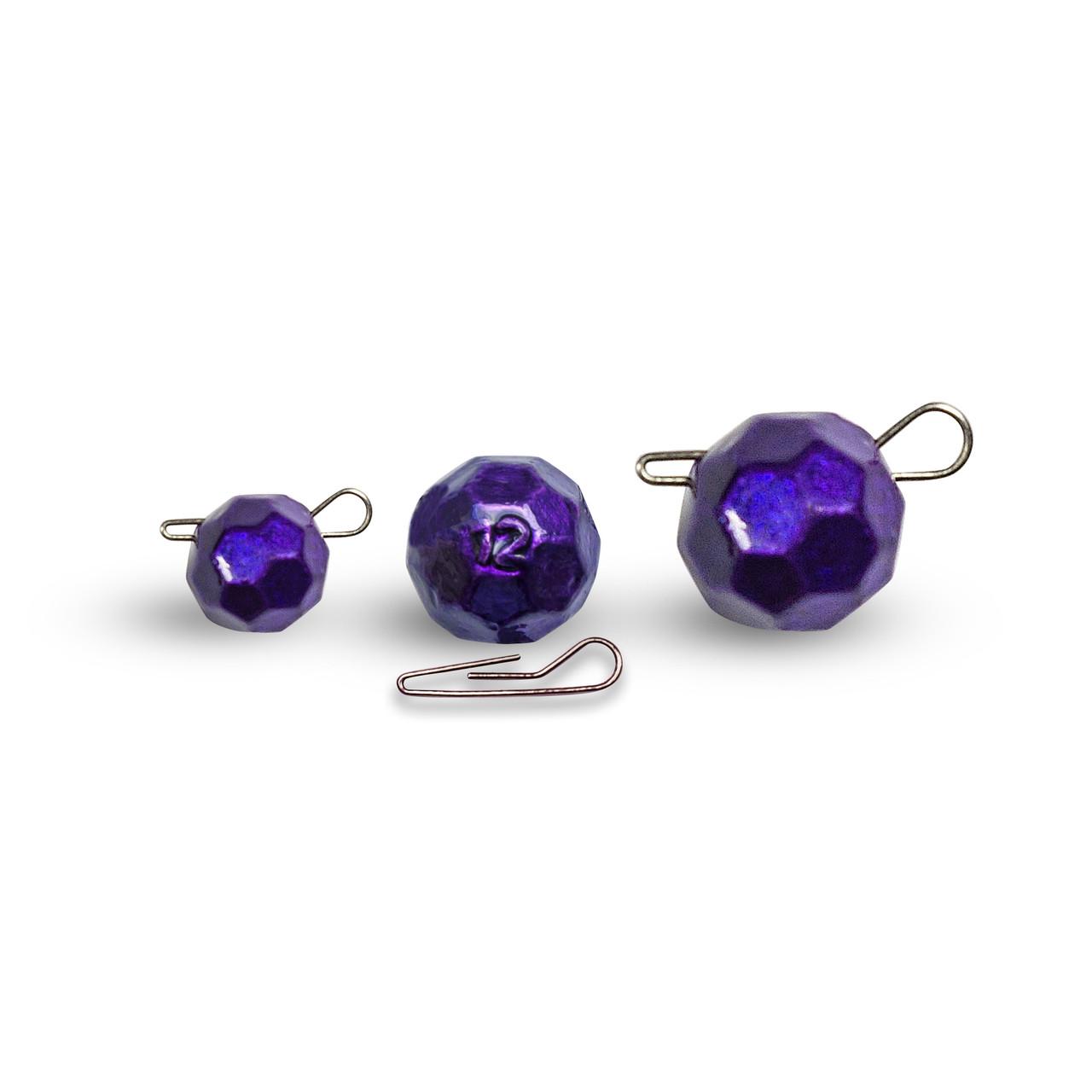 "Граненый фиолетовый груз ""Fishball"" разборный 10г (50 шт.)"