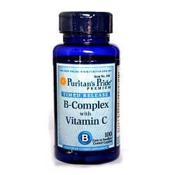 PsP Vitamin B-Complex + Vitamin C Time Release - 100 каплет