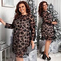 Платья больших размеров женское нарядное 99671 р 48-58