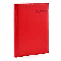 Ежедневник A5 датированный 2020 Leo planner Persona твердый,PU,красный 251937