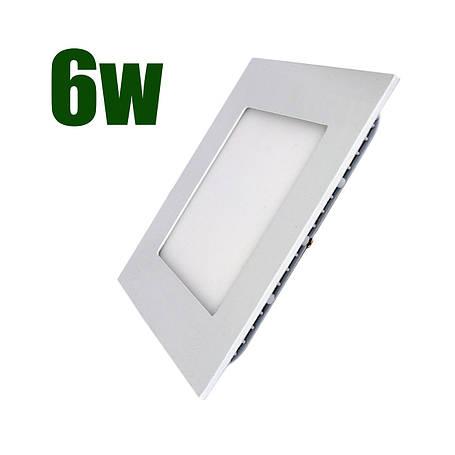 Светильник светодиодный встраиваемый LEDEX 6Вт 4000K 480lm квадрат белый (101601), фото 2