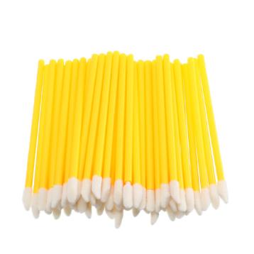 Одноразовые кисточки для макияжа, аппликатор для губной помады, макробраши жёлтые в пакете, 50 шт