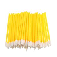 Одноразовые кисточки для макияжа, аппликатор для губной помады, макробраши жёлтые в пакете, 50 шт, фото 1