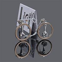 Серьги из серебра с золотыми накладками и камушком BIGSUN 1246