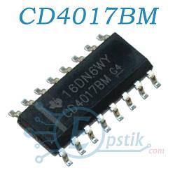 CD4017BM, микросхема стандартной логики, SOP16