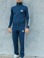 Трикотажный спортивный мужской костюм на молнии