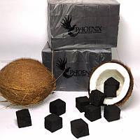 🥥 Кокосовый уголь для кальяна Phoenix (Феникс) - 1 кг. (72 кубика), фото 1