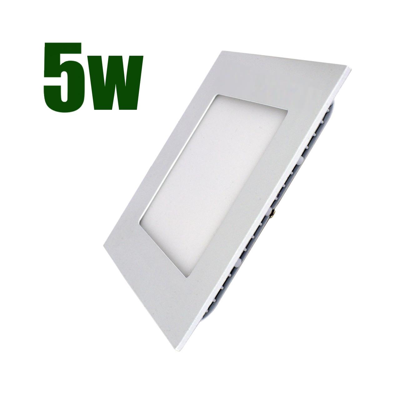Светильник светодиодный встраиваемый LEDEX 5Вт 4000K 400lm квадрат белый (102237)
