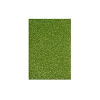 """Флексика """"WB"""" (фоамиран) с глиттером самоклейка 20*30см 1,8мм зеленый 8674"""