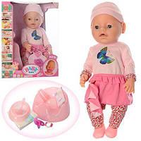 Кукла-пупс 8020-449 интерактивная, реплика, 9 функций, 42 см, плачет, можно купать и кормить, с аксесуарами