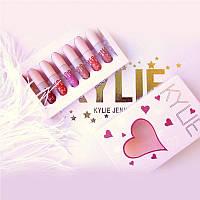 Набор матовых жидких помад Kylie Jenner в розовой подарочной коробке