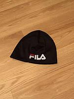 Мужская зимняя шапка Fila, обычная черная шапка фила