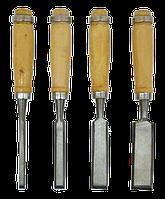 Набір стамесок з дерев'яною ручкою, 4 одиниці