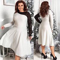 Платья больших размеров женское нарядное с пайеткой 79687 р 48-58