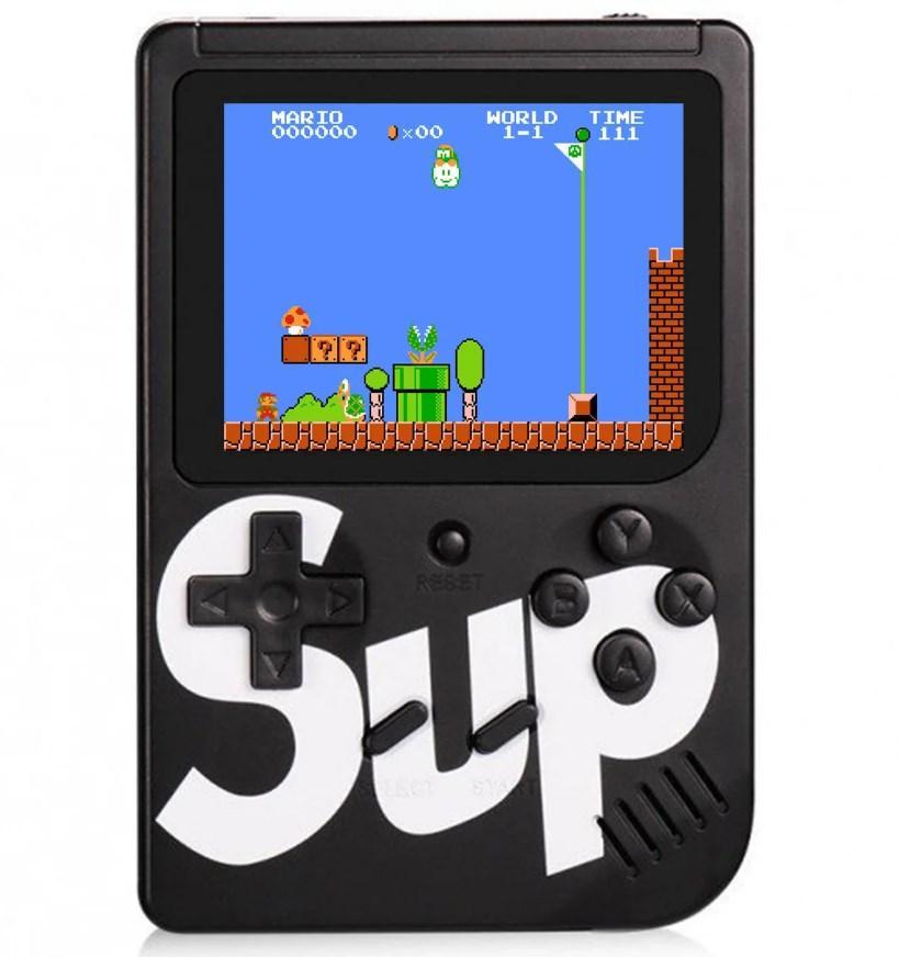 Портативная игровая приставка Retro FC Sup Dendy 400in1 черный