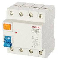 Диф. реле SNL1-63 4P 40А 30мА 6kA х-ка AC электромеханическое Solard