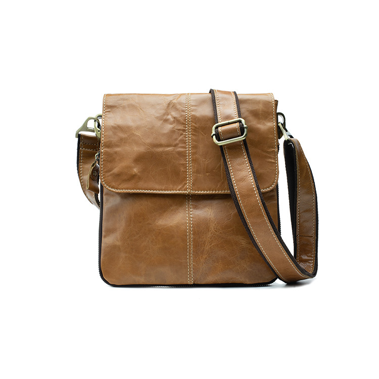 Мужская кожаная сумка Marrant Светло-коричневый