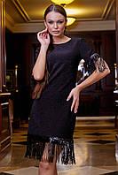 Изящное платье Seventeen прямое однотонное (черный, р.S-XL)