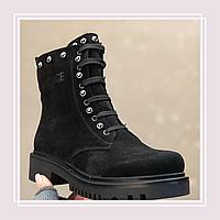 Женские зимние ботинки натуральная замша в стиле Dr. Martens (36-41), фото 1