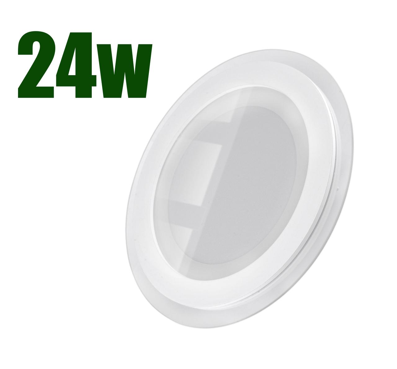Светильник светодиодный встраиваемый LEDEX 24Вт 6500K 1850lm круг стекло (102963)