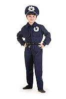 Детский карнавальный костюм для мальчика «Полицейский» 110-120 см, 130-140 см, темно синий, фото 1
