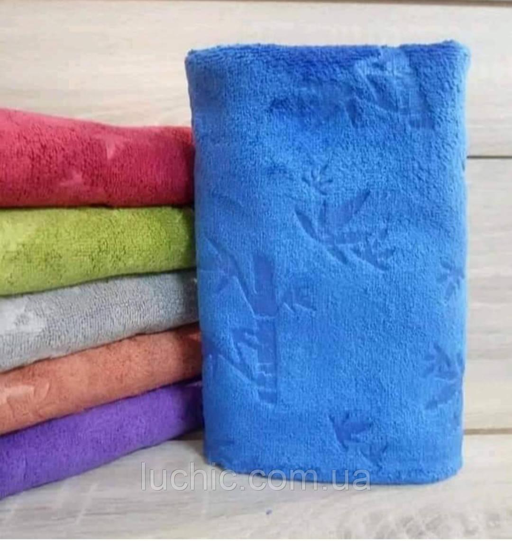 Кухонные полотенце Кленовый листочек микрофибра однотонное 12 шт в уп. Размер 35х70