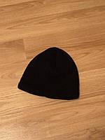 Мужская зимняя шапка , обычная черная шапка на флисе