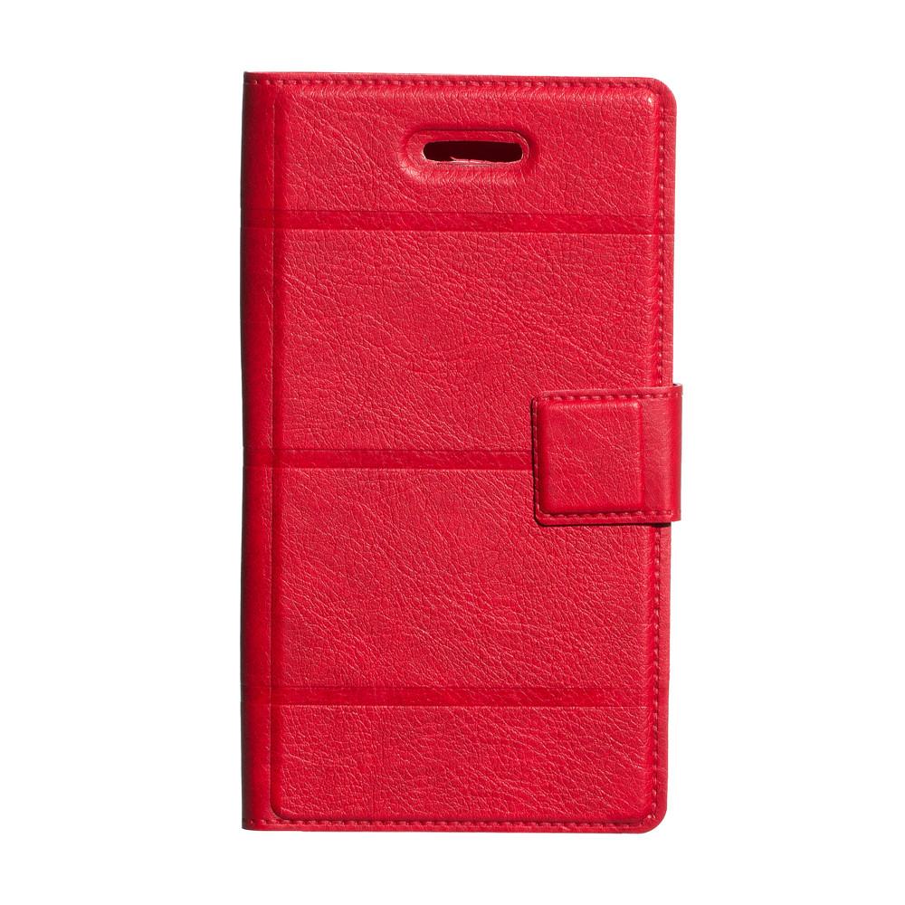 """Универсальный чехол-книжка Business Line Design 5.0"""" красный"""