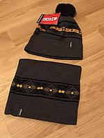 Мужской зимний набор баф + шапка , отличный комплект на зиму