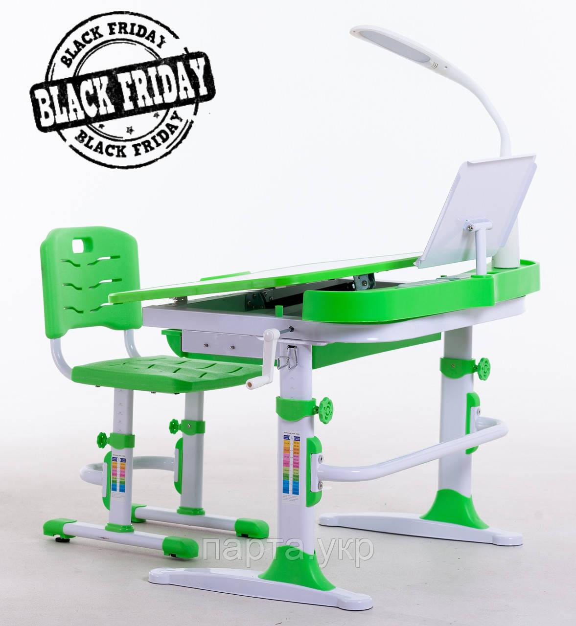 Комплект для школьников парта 90 см,стул, лампа, подставка, фото 1