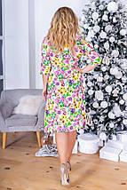 """Штапельное миди-платье на запах """"Kathleen"""" с четвертным рукавом (3 цвета), фото 2"""