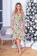 """Штапельное миди-платье на запах """"Kathleen"""" с четвертным рукавом (3 цвета), фото 3"""
