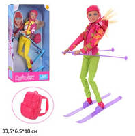 Кукла DEFA 8373 с лыжными аксес.2цв.кор.33,5*6,5*18 /36/(8373)