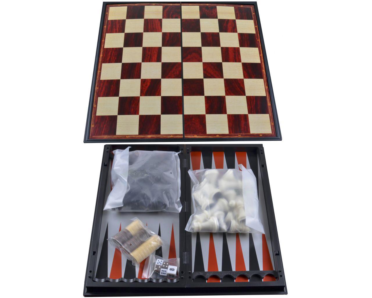 Подарочный набор 3в1 для игры в Нарды, Шахматы и Шашки