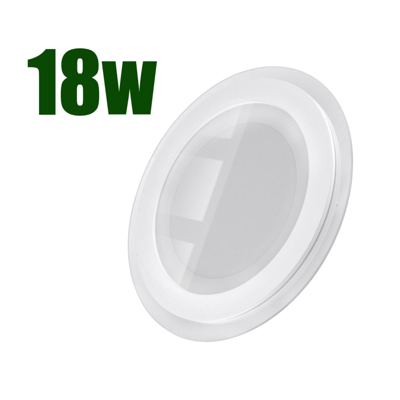 Светильник светодиодный встраиваемый LEDEX 18Вт 6500K 1380lm круг стекло (102961)
