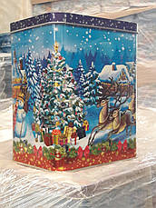 Новогодняя упаковка из жести Олени, 18,1х13,5х6,5см, фото 2