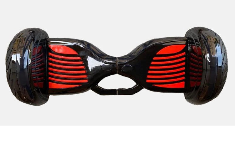 "Гироборд 11"" №11 black/red BT + APP + Автобаланс с АКБ Samsung приложение тао тао с ручкой"